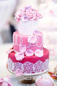 Hochzeitstorte dreistöckig in rosa - 033
