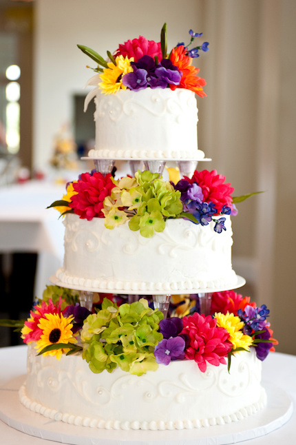 Gradient Coloured Wedding Cakes